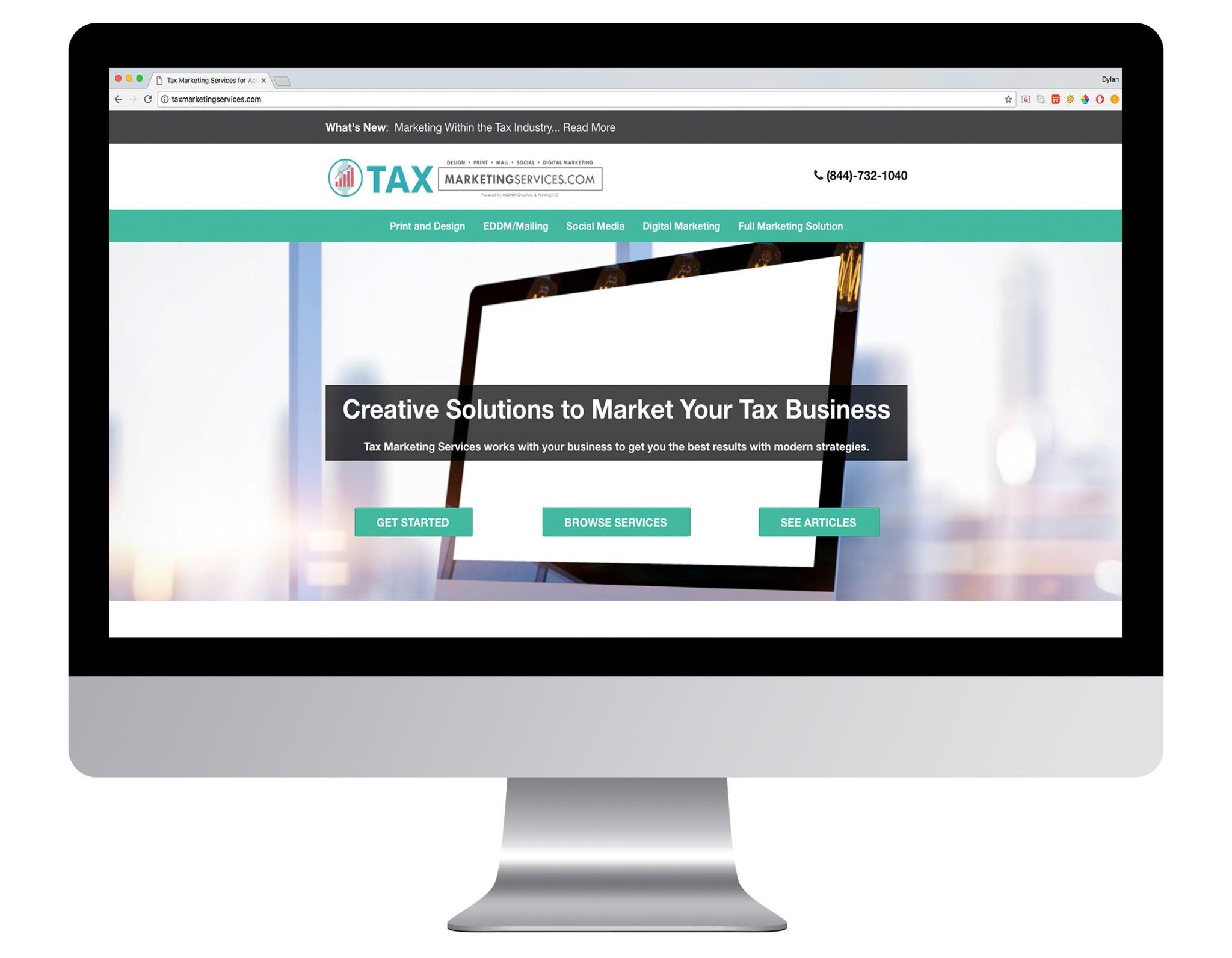 Web Design Portfolio Sample - Tax Marketing Services