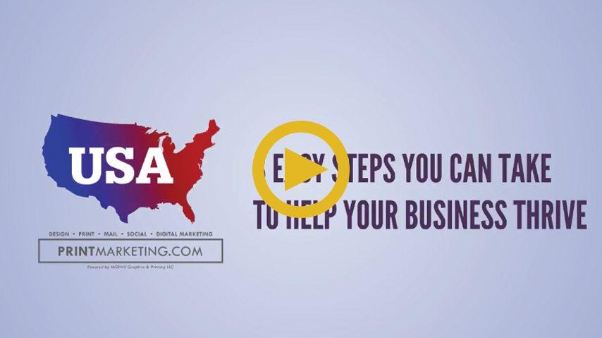USA Print Marketing Video Animation